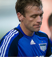 26 April 2009:  Kansas City Wizards defender Jimmy Conrad #12 heads for the locker room at the end of the game between Kansas City Wizards and Toronto FC.Toronto FC won 1-0. .