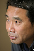 Haruki Murakami, Japanese best selling author/writer/novelist and essayist, in Tokyo, Japan, 14th December 2004. Murakami is best known as the best selling author of books such as 'Norwegian Wood', 'The Wild Sheep Chase', 'Underground', 'Kafka on The Shore' and 'What I Talk About When I Talk About Running'. Murakami is also an experienced long distance marathon runner, and a translator of other author's works.