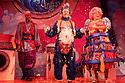 London, UK. 01/12/2011. Aladdin opens at the Lyric Hammersmith. Hammed Animashaun as Aladdin, Steven Webb as Wishy Washy and Shaun Prendergast as Widow Twankey. Photo credit: Jane Hobson