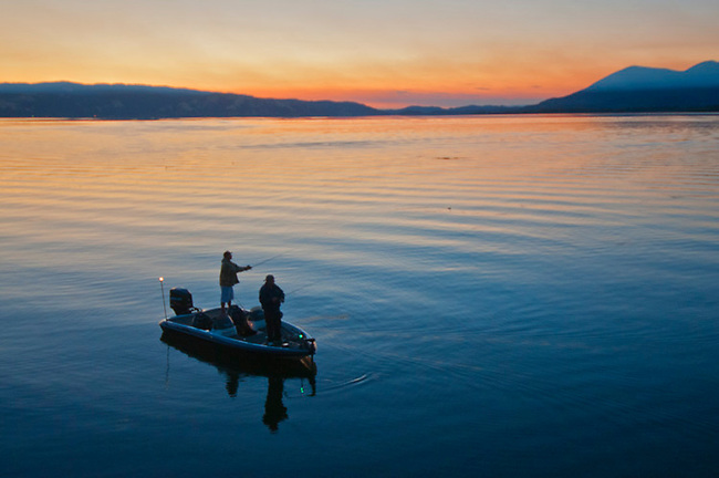 Sunrise on Clear Lake, California
