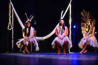 MIAMI, FL - SEPTEMBER 29: Wannu, Yawavana and KenewecÌ performs during the Journey to Mutum: A Cultural Encounter with the Yawanaw· Tribe of the Brazilian Amazon at Miami Theater Center on September 29, 2016 in Miami, Florida. Credit: MPI10 / MediaPunch