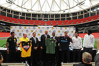 The press conference for the 2010 Atlanta International Soccer Challenge was held, Tuesday, July 27, at the Georgia Dome, a day in advance of the match between Club America and Manchester City.