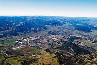 aerial photograph Healdsburg, Sonoma County, California