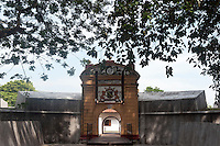 The entrance to the Star Fort, a Dutch period fort in the southern town of Matara.