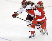 Alison Szlosek (BC - 8), Lauren Cherewyk (BU - 7) - The visiting Boston University Terriers defeated the Boston College Eagles 1-0 on Sunday, November 21, 2010, at Conte Forum in Chestnut Hill, Massachusetts.