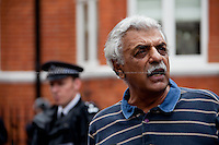 Tariq Ali, British Pakistani military historian, novelist, journalist, filmmaker, public intellectual, political campaigner, activist and commentator.<br />