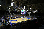 29 December 2014: A wide shot of Cameron Indoor late in the first half. The Duke University Blue Devils hosted the University of Toledo Rockets at Cameron Indoor Stadium in Durham, North Carolina in a 2014-16 NCAA Men's Basketball Division I game. Duke won the game 86-69.