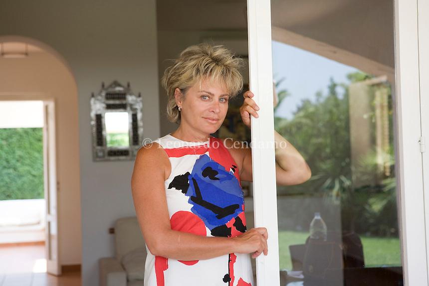 Rosa Marina, (Ostuni), Brindisi, Italy, 2007. Marida Lombardo Pijola, Italian journalist and writer. Author of 'Ho 12 anni, faccio la cubista mi chiamano Principessa. Storie di bulli, lolite e altri bimbi'.