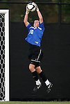 11 October 2009: Duke's James Belshaw (ENG). The Duke University Blue Devils defeated the University of North Carolina Greensboro Spartans 3-0 at Koskinen Stadium in Durham, North Carolina in an NCAA Division I Men's college soccer game.