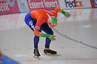 SCHAATSEN: BERLIJN: Sportforum, 08-12-2013, Essent ISU World Cup, 500m Men Division B, Lennart Velema (NED), ©foto Martin de Jong