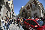 The start of Stage 8 of the 100th edition of the Giro d'Italia 2017, running 189km from Molfetta to Peschici, Italy. 1th May 2017.<br /> Picture: LaPresse/Fabio Ferrari | Cyclefile<br /> <br /> <br /> All photos usage must carry mandatory copyright credit (&copy; Cyclefile | LaPresse/Fabio Ferrari)