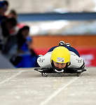 15 December 2006: Courtney Yamada from the USA, starts her run at the FIBT Women's World Cup Skeleton Competition at the Olympic Sports Complex on Mount Van Hoevenburg  in Lake Placid, New York, USA. &amp;#xA;&amp;#xA;Mandatory Photo credit: Ed Wolfstein Photo<br />