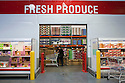 The walk-in refrigerated fresh produce section at Costco. Costco, California, USA