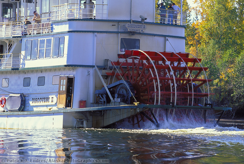 Sternwheeler Riverboat Discovery on the Chena river in Fairbanks.