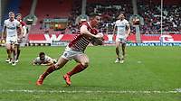 Wigan Warriors' Morgan Escare scores his sides first try <br /> <br /> Photographer Stephen White/CameraSport<br /> <br /> Betfred Super League Round 5 - Wigan Warriors v Huddersfield Giants - Sunday 19th March 2017 - DW Stadium - Wigan<br /> <br /> World Copyright &copy; 2017 CameraSport. All rights reserved. 43 Linden Ave. Countesthorpe. Leicester. England. LE8 5PG - Tel: +44 (0) 116 277 4147 - admin@camerasport.com - www.camerasport.com