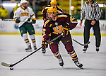 24 November 2012: University of Minnesota Golden Gopher forward Travis Boyd, a Sophomore from Hopkins, MN, in action against the University of Vermont Catamounts at Gutterson Fieldhouse in Burlington, Vermont. The Gophers defeated the Catamounts 3-1 in the second game of their 2-game non-divisional weekend series. Mandatory Credit: Ed Wolfstein Photo