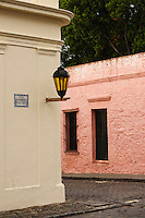 Uruguay, Colonia del Sacramento, Street corner, Historic District