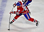 21 December 2008: Montreal Canadiens' left wing forward Steve Begin takes a shot against the Carolina Hurricanes in the first period at the Bell Centre in Montreal, Quebec, Canada. The Hurricanes defeated the Canadiens 3-2 in overtime. ***** Editorial Sales Only ***** Mandatory Photo Credit: Ed Wolfstein Photo