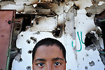 A boy in Misrata, Libya, which has been torn by months of war between rebels and troops loyal to strongman Moammar Gadhafi.