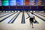 Bowlers at the National Bowling Stadium in Reno, Nevada, July 5, 2012.