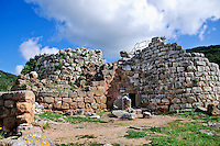 Ancient ruins of the Nuraghe Palmavera in Sardinia, Italy