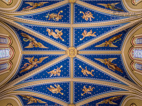 Apr. 8, 2015; Basilica of the Sacred Heart ceiling. (Photo by Matt Cashore/University of Notre Dame)