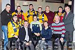 Launching the Kerry Sports Star awards which will be held in the Gleneagle Hotel on February 17th were front row l-r: Michelle Curran, Ken O'Day, Helen O'Sullivan,  Fiadhna Tangney, Christy O'Riordan. Back row: Niall Murphy, Leo Houlihan, Paul curtin, Brian curtin, Padraig Hartnett, Tommy Gilligan and Liam Kealy