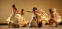 "© Jane Hobson. 11/02/2011. Compania Aida Gomez present ""Carmen"" as part of the Sadler's Wells flamenco festival, London. Aida Gomez as Carmen, Christian Lozano as Don Jose, Yolanda Murillo as Manuelita, Isaac Tovar as Zuniga. Picture credit should read: Jane Hobson"