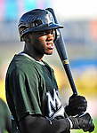 18 March 2009: Florida Marlins' outfielder Cameron Maybin awaits his turn in the batting cage prior to a Spring Training game against the Washington Nationals at Space Coast Stadium in Viera, Florida. The Marlins defeated the Nationals 7-5 in the Grapefruit League matchup. Mandatory Photo Credit: Ed Wolfstein Photo