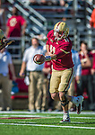 2 November 2013: Boston College Eagles quarterback Chase Rettig (11) sets  for a hand-off against the Virginia Tech Hokies during the first quarter at Alumni Stadium in Chestnut Hill, MA. Mandatory Credit: Ed Wolfstein-USA TODAY Sports *** RAW (NEF) Image File Available ***