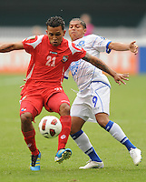 Panama Amilcar Henriquez (21) shields the ball against El Salvador Rudis Corrales (9)    Team Photo.  Panama defeated El Salvador in penalty kicks 5-3 in the quaterfinals for the 2011 CONCACAF Gold Cup , at RFK Stadium, Sunday June 19, 2011.