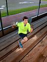 PE00256-00...WASHINGTON - Pierce Prohovost jogging in Edmonds. (MR# P9)