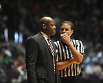 "Ole Miss vs. Arkansas head coach Mike Anderson at the C.M. ""Tad"" Smith Coliseum in Oxford, Miss. on Saturday, January 19, 2013. Mississippi won 76-64. (AP Photo/Oxford Eagle, Bruce Newman)"