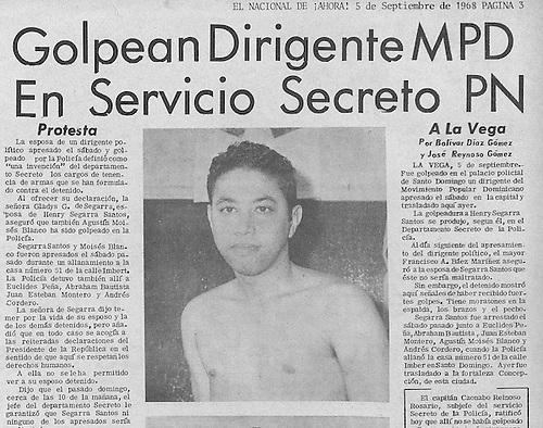 Henry Segarra golpeado en la Policia
