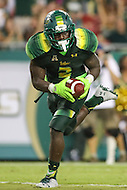 Tampa, FL - September 2, 2016: South Florida Bulls running back D'Ernest Johnson (2) catches a pass during game between Towson and USF at the Raymond James Stadium in Tampa, FL. September 2, 2016.  (Photo by Elliott Brown/Media Images International)