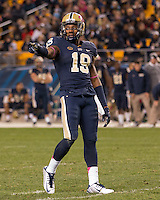 Pitt wide receiver Dontez Ford. The North Carolina Tar Heels football team defeated the Pitt Panthers 26-19 on Thursday, October 29, 2015 at Heinz Field, Pittsburgh, Pennsylvania.