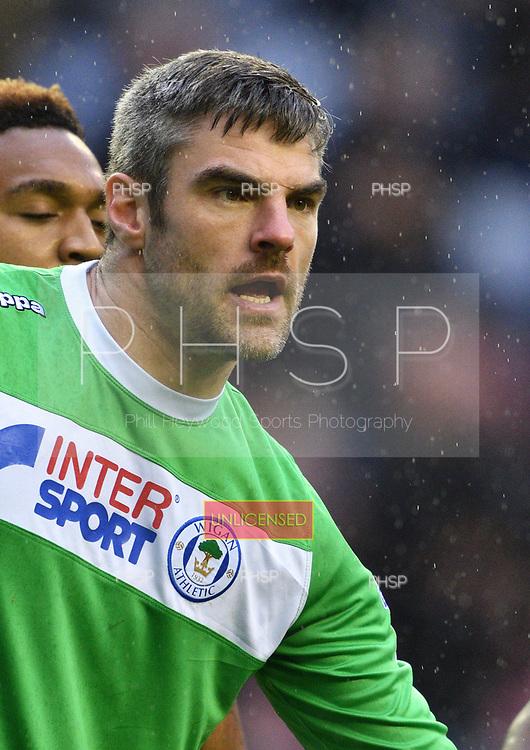 25/02/2017 Sky Bet Championship Wigan Athletic v Nottingham Forest<br /> <br /> Matt Gilks, Wigan Athletic FC