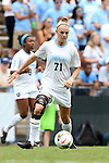 24 August 2014: North Carolina's Hanna Gardner. The University of North Carolina Tar Heels hosted the Ohio State University Buckeyes at Fetzer Field in Chapel Hill, NC in a 2014 NCAA Division I Women's Soccer match. UNC won the game 1-0.