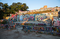 The HOPE Outdoor Gallery is a street art wonderland where artists from all over the world come to paint artistic painting styles from graffiti to fine art on the slabs of cement - Stock image.