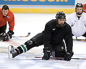 (Radke) Chris Porter (University of North Dakota - Thunder Bay, ON) (Lee) takes part in the Fighting Sioux Wednesday practice on April 4, 2007 at the Scottrade Center in St. Louis, Missouri, prior to their Thursday 2007 Frozen Four Semi-Final.