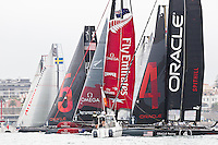 PORTUGAL, Cascais. 6th August 2011. America's Cup World Series. Day 1. Race start.