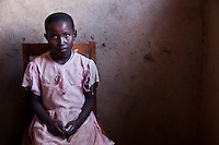 Portrait of a young Rwandan girl