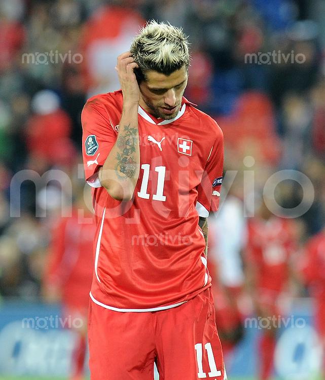 FUSSBALL INTERNATIONAL  EM 2012-Qualifikation  Gruppe G   11.10.2011 Schweiz - Montenegro Valon BEHRAMI (Schweiz)