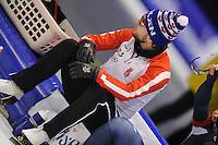 SCHAATSEN: HEERENVEEN: IJsstadion Thialf, 07-02-15, World Cup, 500m Men Division A, Laurent Dubreuil (CAN), ©foto Martin de Jong