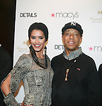 Jaslene Gonzalez and Russell Simmons attend Russell Simmons Celebrates The Grand Opening of the New Arygyleculture Men's Shop at Macy*s Herald Square, NY