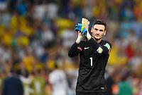FUSSBALL WM 2014  VORRUNDE    GRUPPE E     Ecuador - Frankreich                  25.06.2014 Torwart Hugo Lloris (Frankreich)
