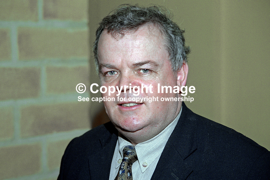 John Dallat, Coleraine, N Ireland, councillor, SDLP, 199911041..Copyright Image from Victor Patterson, 54 Dorchester Park, Belfast, United Kingdom, UK...For my Terms and Conditions of Use go to http://www.victorpatterson.com/Victor_Patterson/Terms_%26_Conditions.html