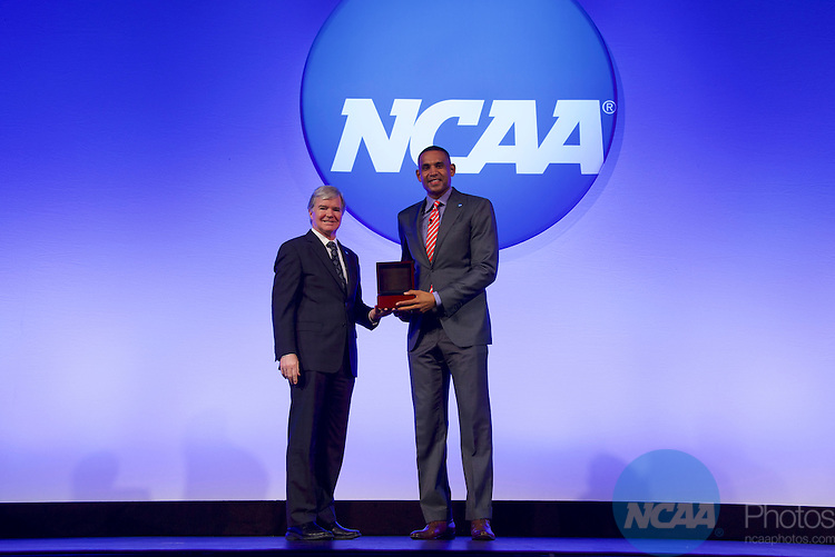 20 JAN 2017: The NCAA Association Luncheon takes place during the 2017 NCAA Convention at the Gaylord Opryland Resort and Convention Center in Nashville, TN.  Jamie Schwaberow/NCAA Photos  (Pictured:  Dr Mark Emmert, Grant Hill)