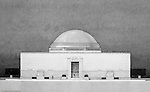 Pittsburgh PA:  View of a rendering created by J.A. Mitchell of the new Buhl Planetarium. This view is a cross-section of the building which was completed in 1939.  The Buhl Planetarium was built with monies from the Buhl Foundation; a foundation created by the wealthy North Side clothier Henry Buhl of Boggs and Buhl department store fame.  Brady Stewart was selected for the job due to his specialized equipment; an 8x10 Dierdorff camera, and his expertise in lighting and photographing large renderings and drawings.