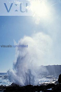 Blowhole, wave activated, Espanola Island, Galapagos Island